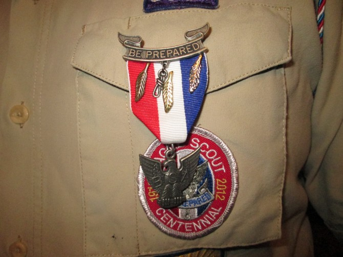 Christopher Earns Eagle Scout Palms
