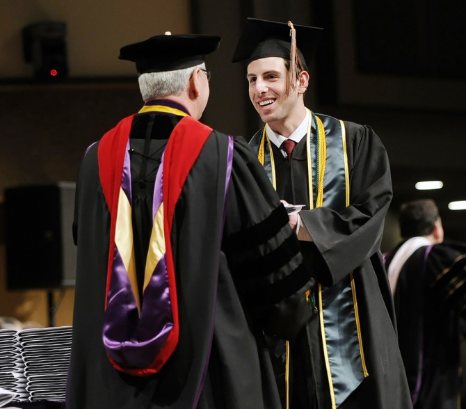 Trevor Graduates Summa Cum Laude from Olivet Nazarene University