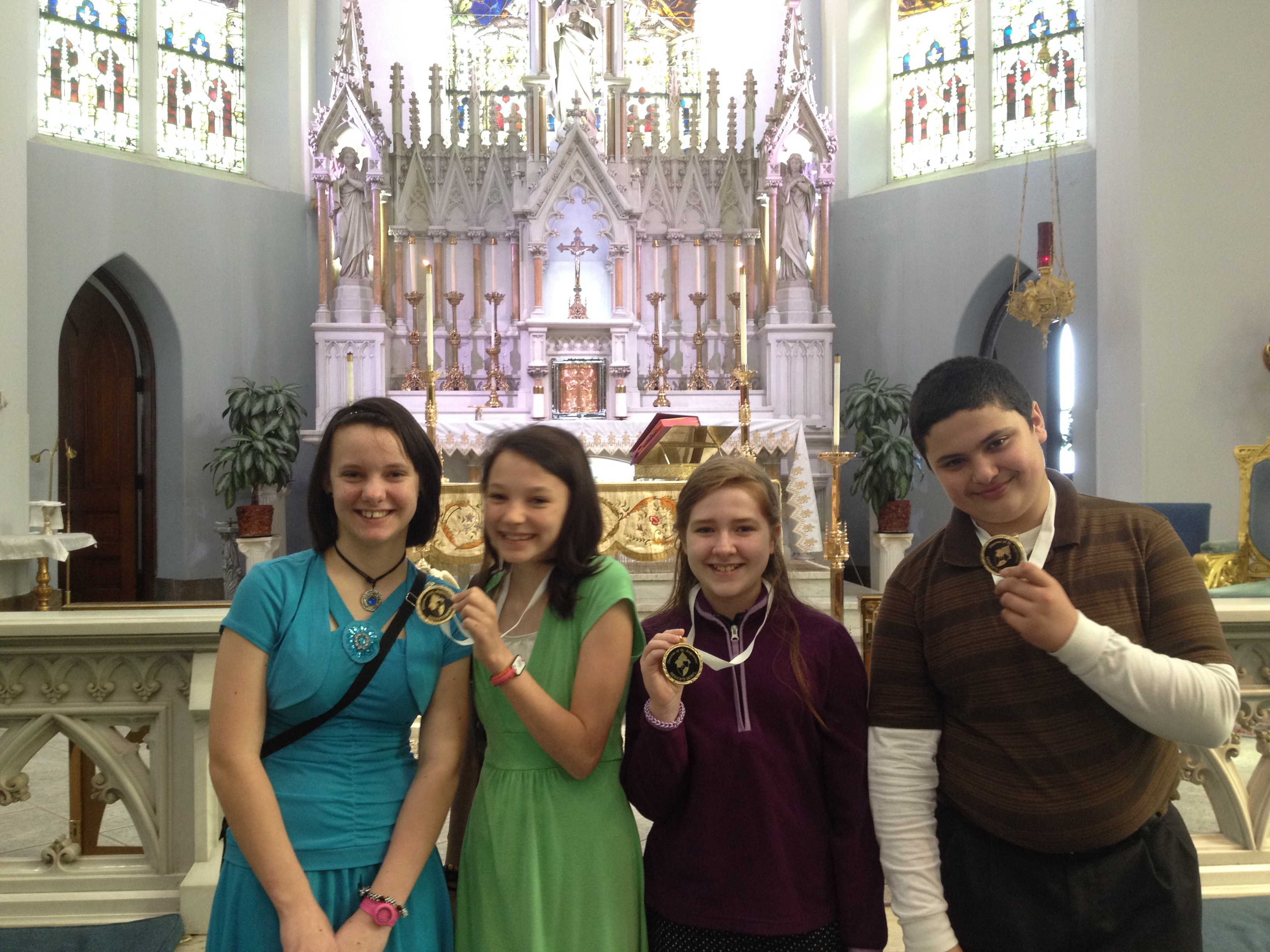 Sarah Wins Silver Medal in 'Bishops' Bowl' Olympics