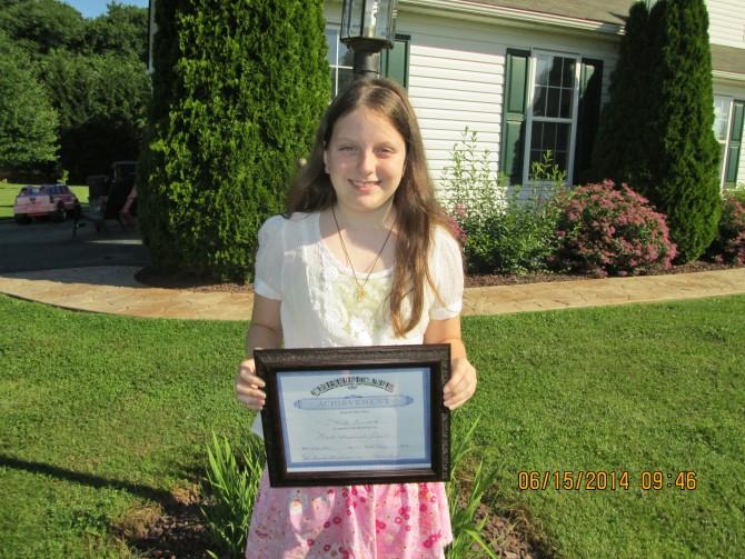 Christy Wins Award At Dance School