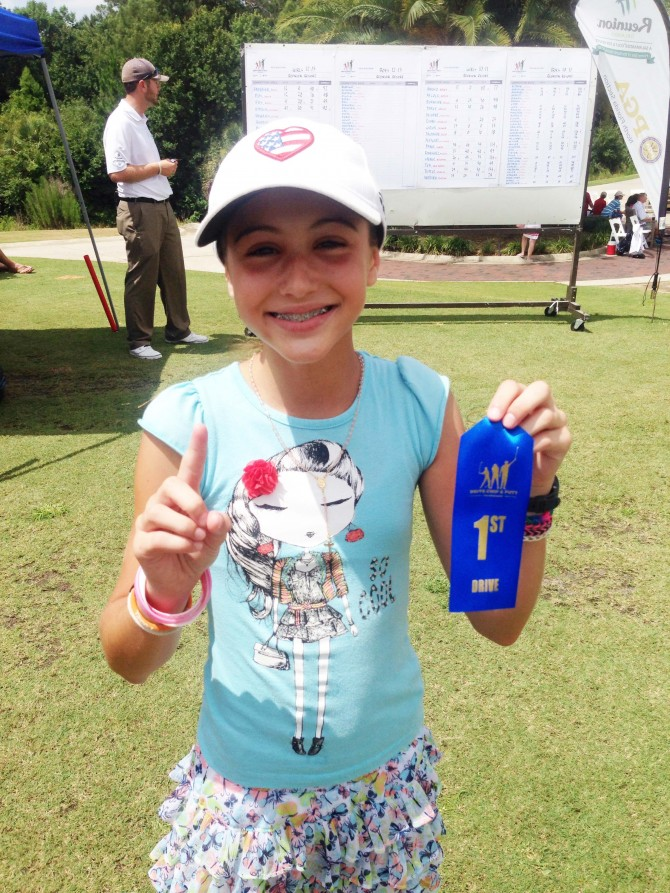 Stephanie Wins Kids Golf Competition