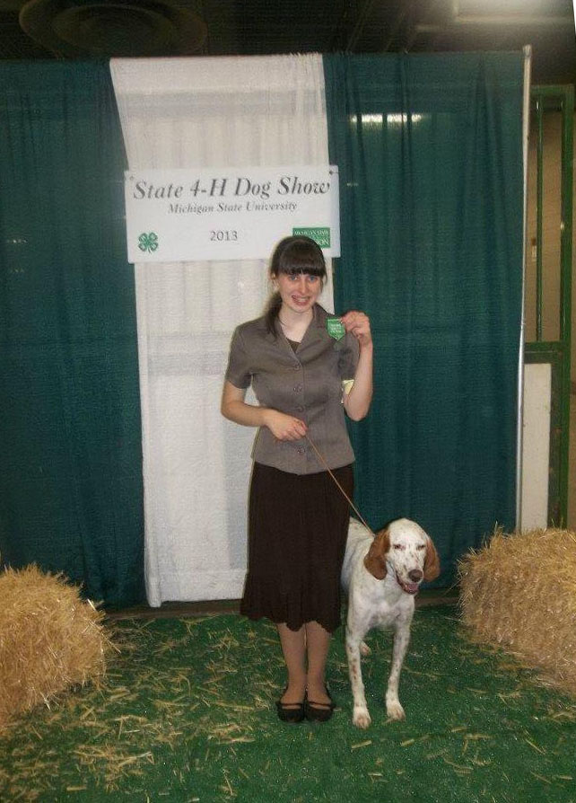 Brittany Takes 2nd Place at 4H Dog Show