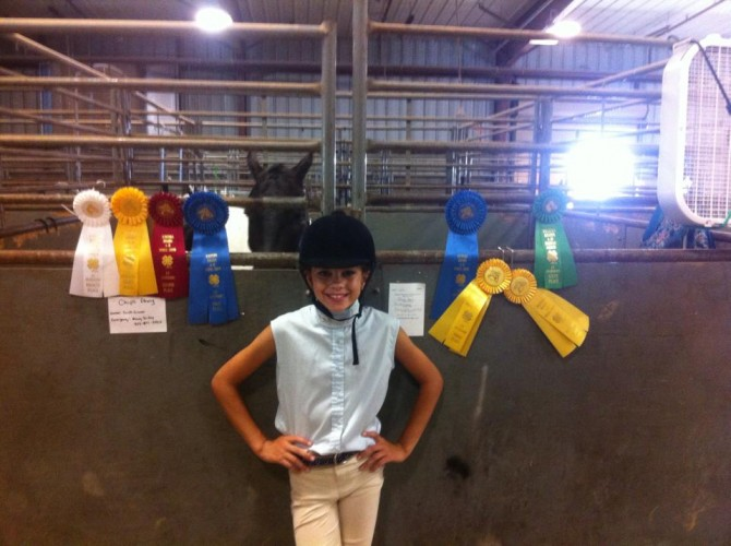 Faith Competes at 4-H Regional Horse Show