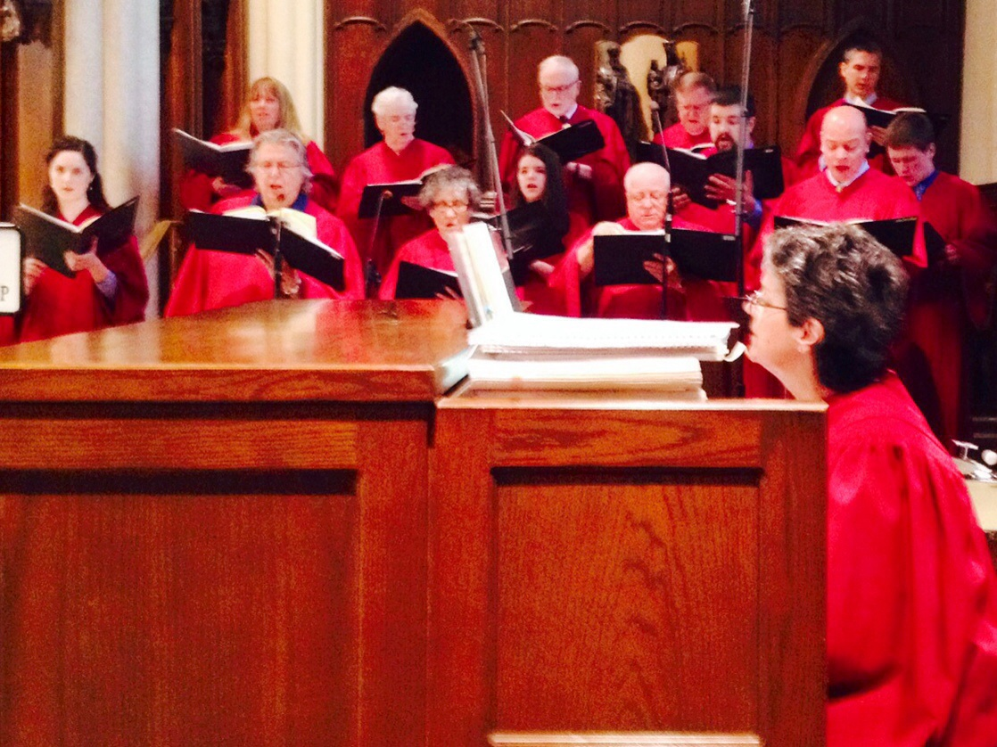 Sonja Sings Soprano in Diocesan Choir for Ordination