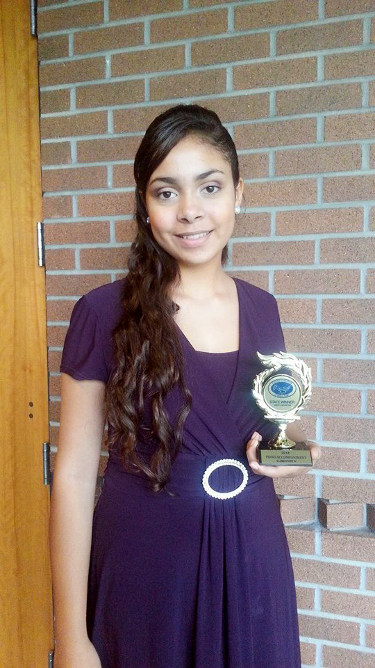Alexis Wins 1st Place In Florida State Piano Competition