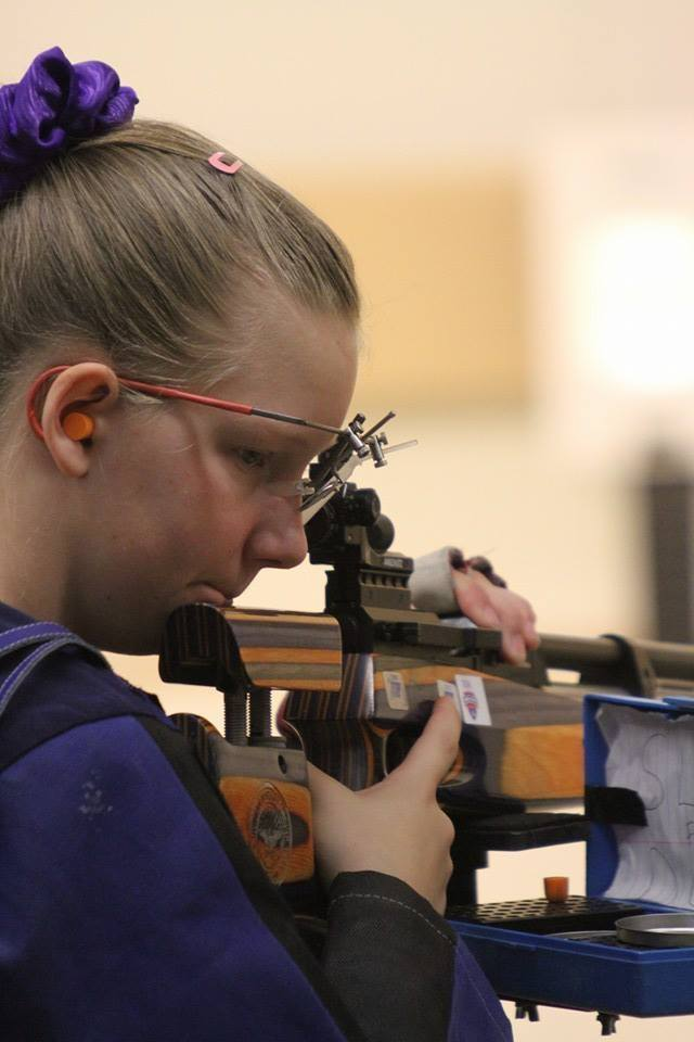 Maggie Wins 4th Place in Jr Olympic Air Rifle Competition