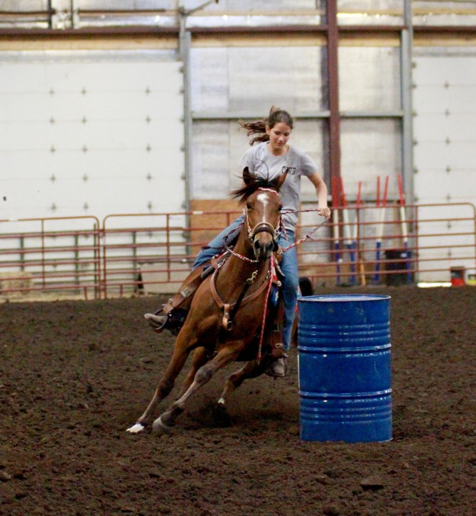 Danielle Places 1st in Barrel Race