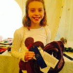 Madeline Wins 1st Place for Knitted Scarf