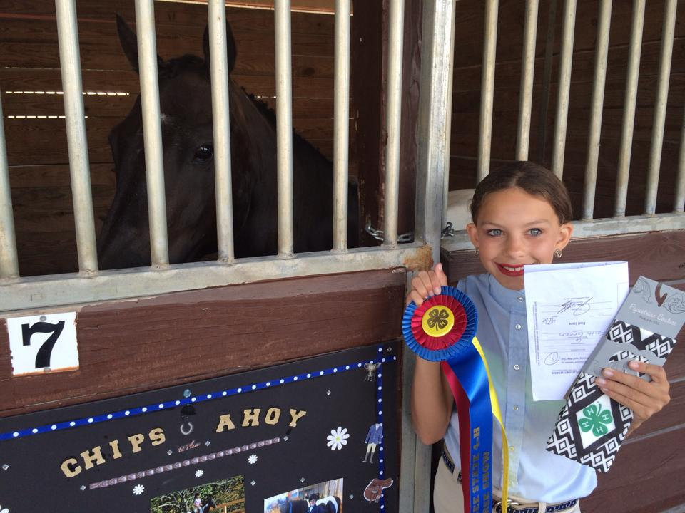 Faith Wins Grand Championship in Training Level Dressage