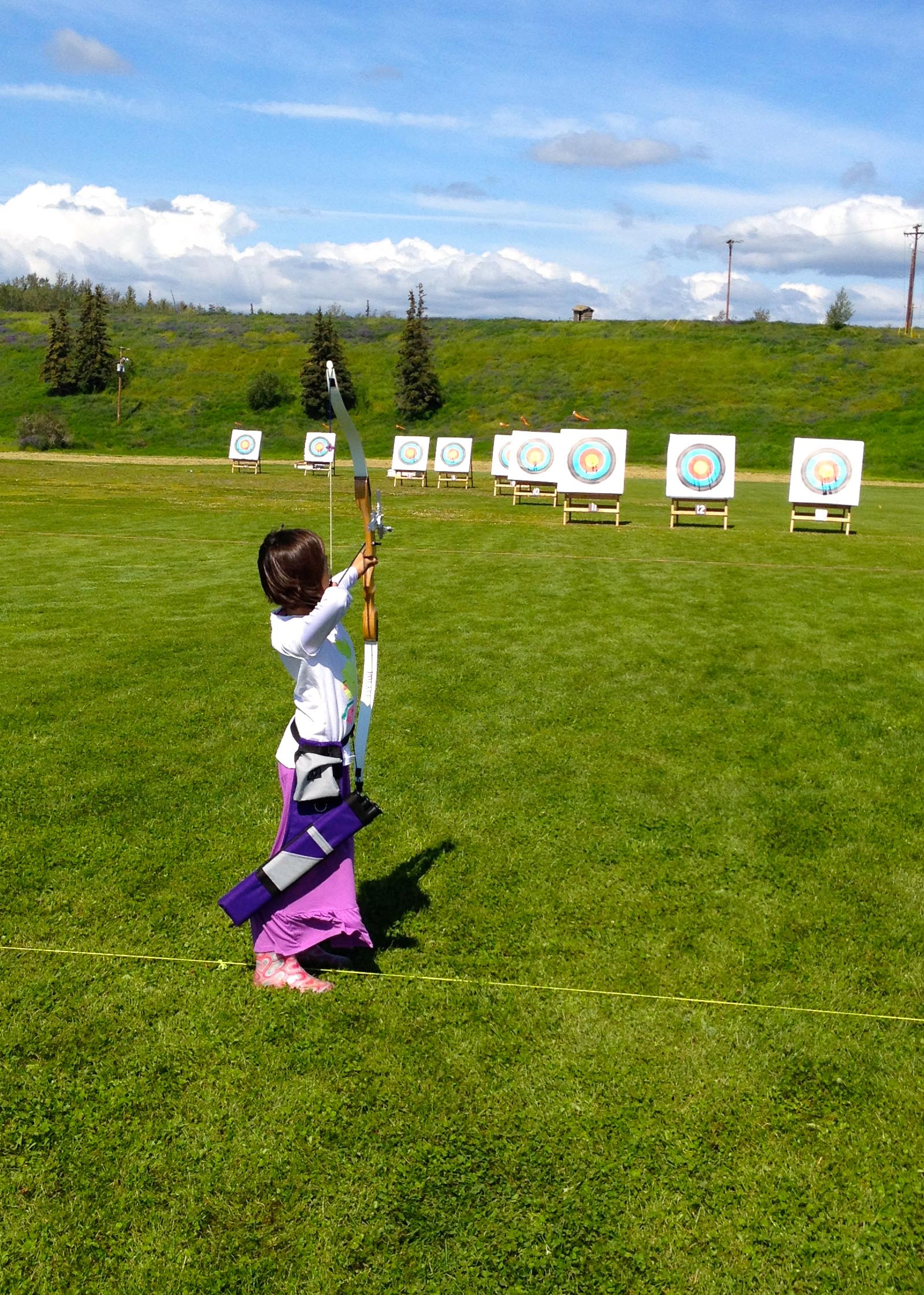Elena Wins 1st Place in Alaska Archery Competition, Cub Division