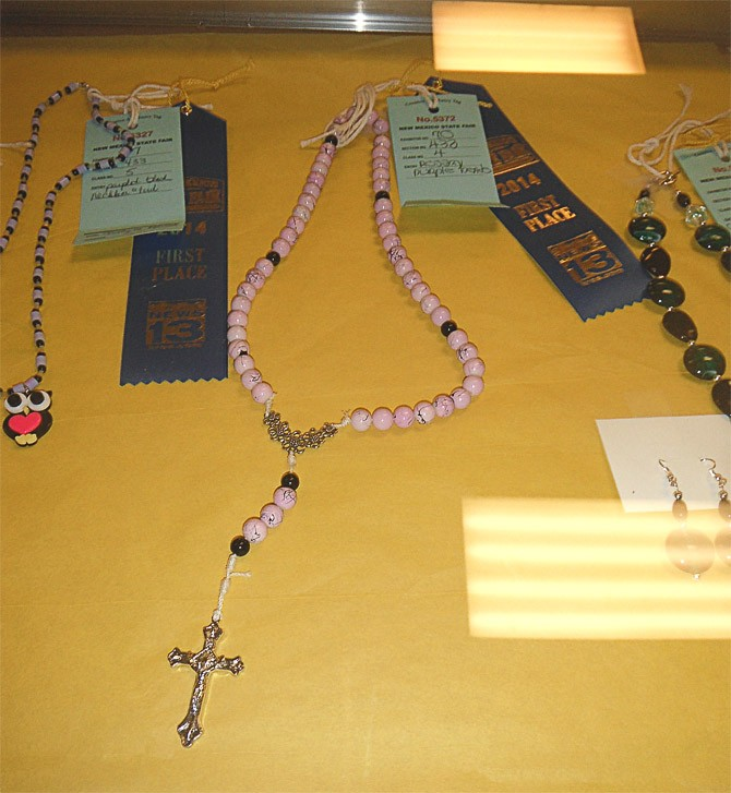 Maria Wins 1st Place for Rosary-Making at NM State Fair