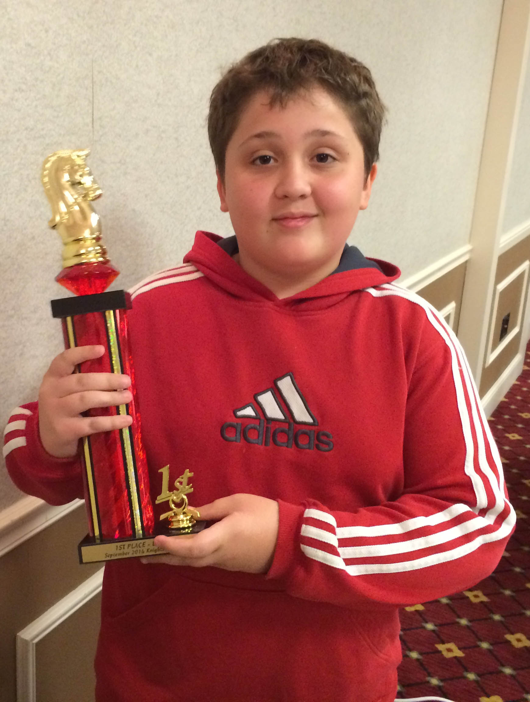 Frank Wins 1st Place in Renaissance Knights Chess Tournament