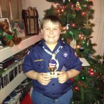 John Wins 3rd Place for Cub Scout Pack Popcorn Sales