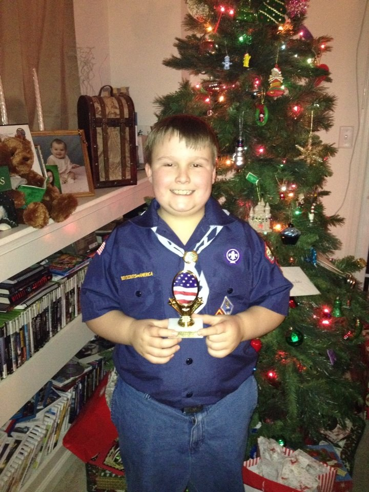 Jonathan Wins 3rd Place for Cub Scout Pack Popcorn Sales
