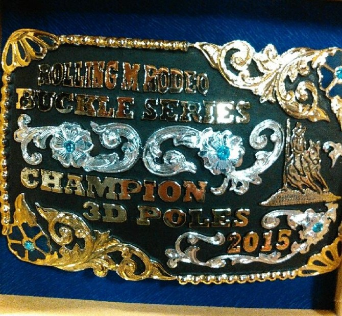 Danielle Wins Champion Place for 3D Poles at Rodeo Series