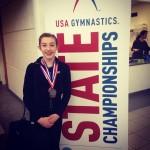 Rhianna Wins 2nd Place at US Gymnastics Level 7, VA