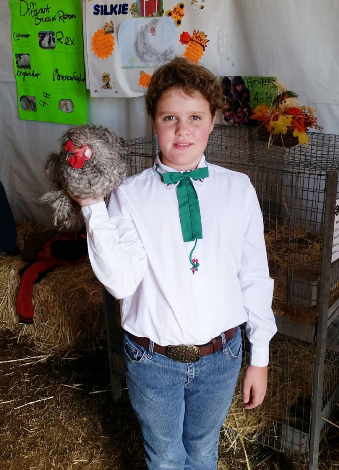 Morgan Wins Reserve Grand Champion for 4H Poultry Showmanship
