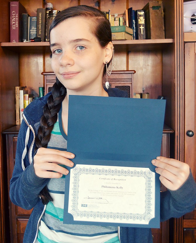 Philomena is Finalist in Highschool Essay Contest, & Wins $1000 Scholarship