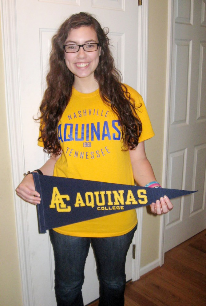 Sarah Accepted to Aquinas College with Vice President Scholarship