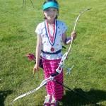 Elena Wins 1st Place in Alaska FITA Archery Cub Female Freestyle Recurve Division