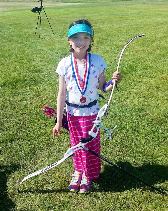 Elena Wins 1st Place in Alaska FITA Archery Cub Female Freestyle Recurve Division