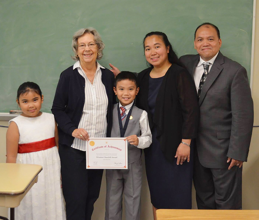 Shiloh Earns Coveted Winston Churchill Award for Reciting 'Horatius'