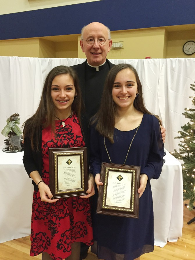 Natalie & Lauren Carpenter Granted  'God's Faithful Servant' Award