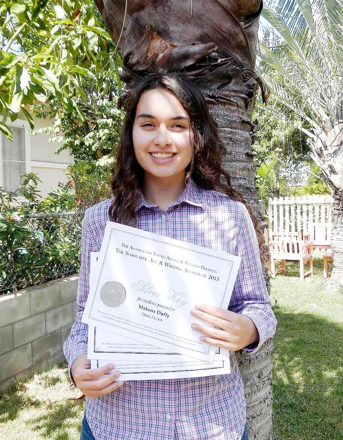 Makena Wins Award in Art & Writing Contest