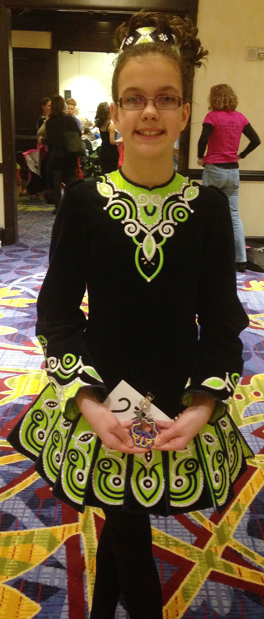 Catherine Wins First Place in Irish Dancing