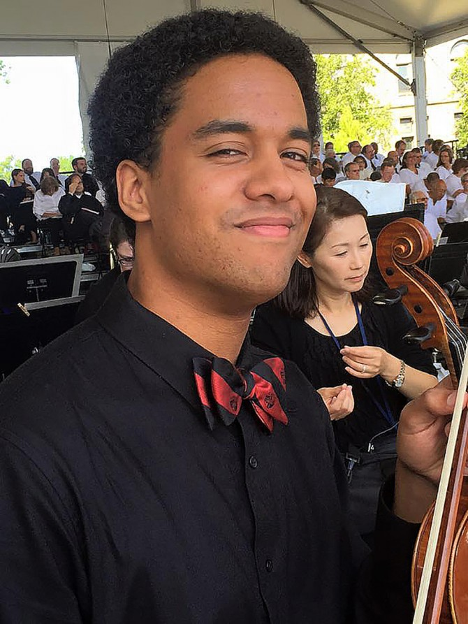 Cole Plays Violin for Pope Francis Mass in USA