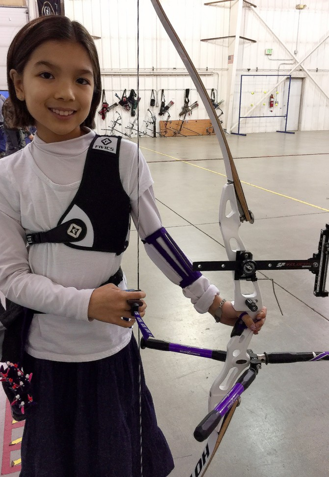 Elena Wins First Place in State 3-Spot Archery Tournament