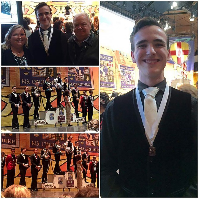 Kieran Places 8th in World Irish Dancing Competition