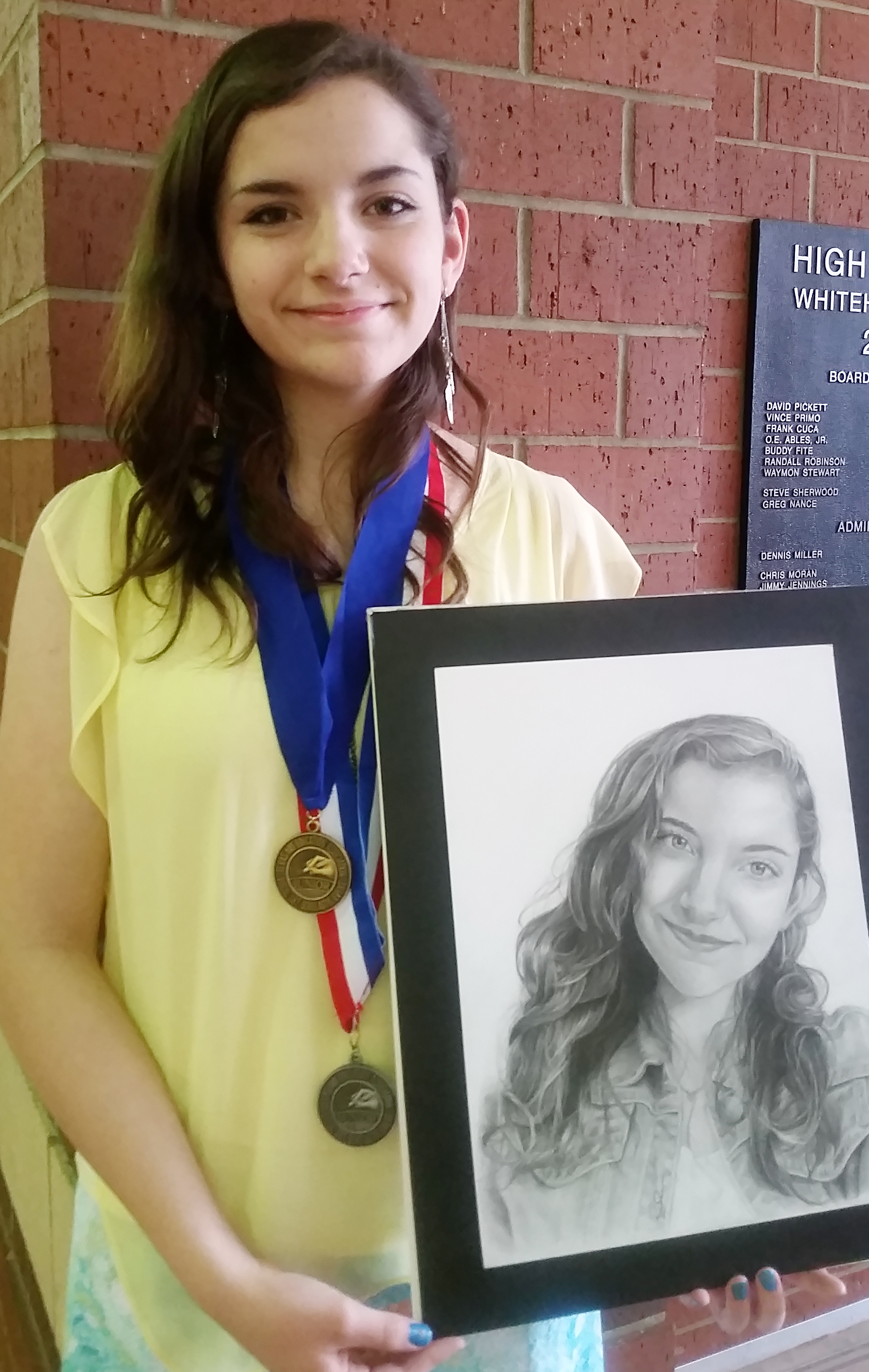 Rachel Receives Highest Honors with Self Portrait