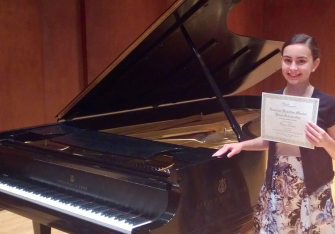 Emma Places 3rd in Piano Competition!