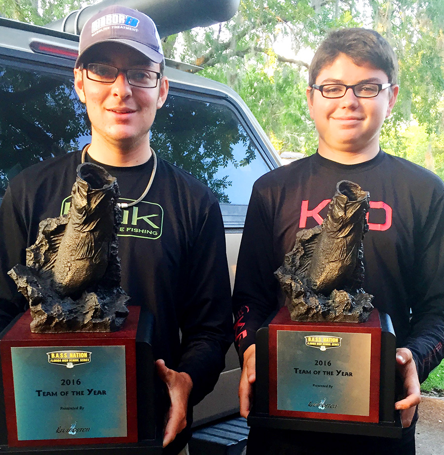 Christian and Sebastian Win Florida State BASS Nation High School Fishing Award
