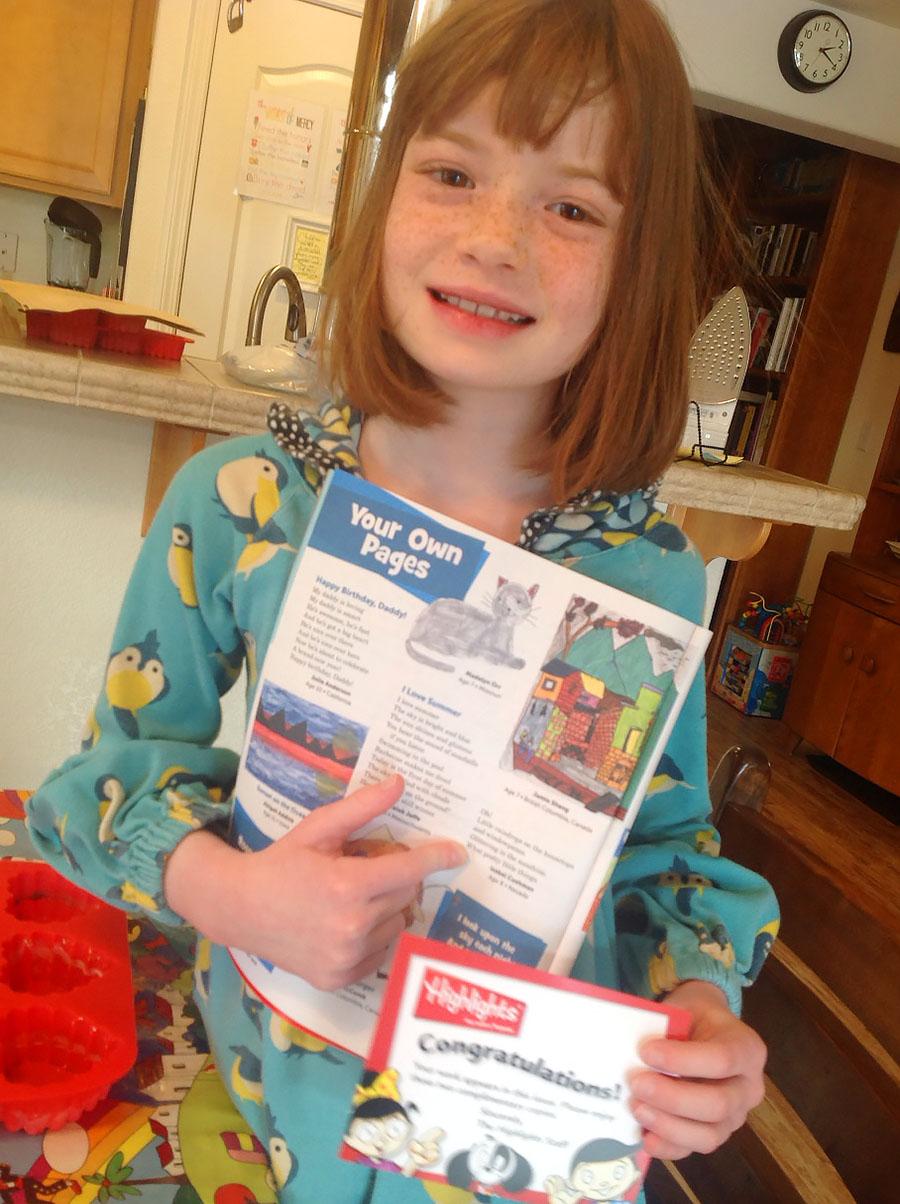Isabel has Poem Published in Highlights Magazine