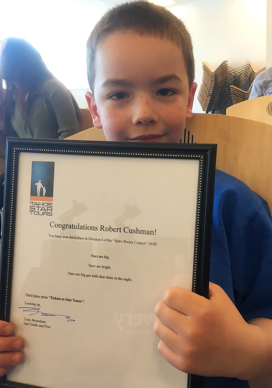 Robert Wins 3rd Place in Poetry Contest