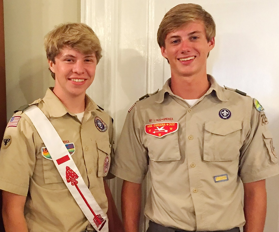 William Earns Rank of Eagle Scout