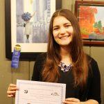 Sarah Wins Scholarship for Her Painting - Sarah Kiczek