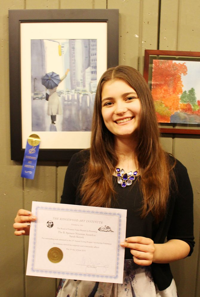 Sarah Wins Scholarship for Her Painting