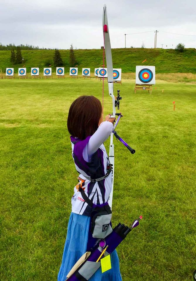 Elena Wins 1st in Archery Tournament