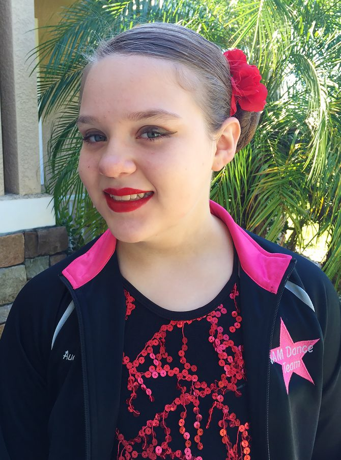 Audrey Wins First Place in Dance Competition