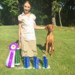 Genevieve Wins First Place In Dog Show With Her Dog, Kolbe