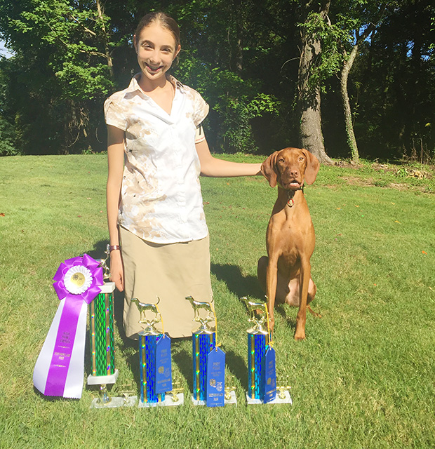 Genevieve Wins First Place In Dog Show With Kolbe