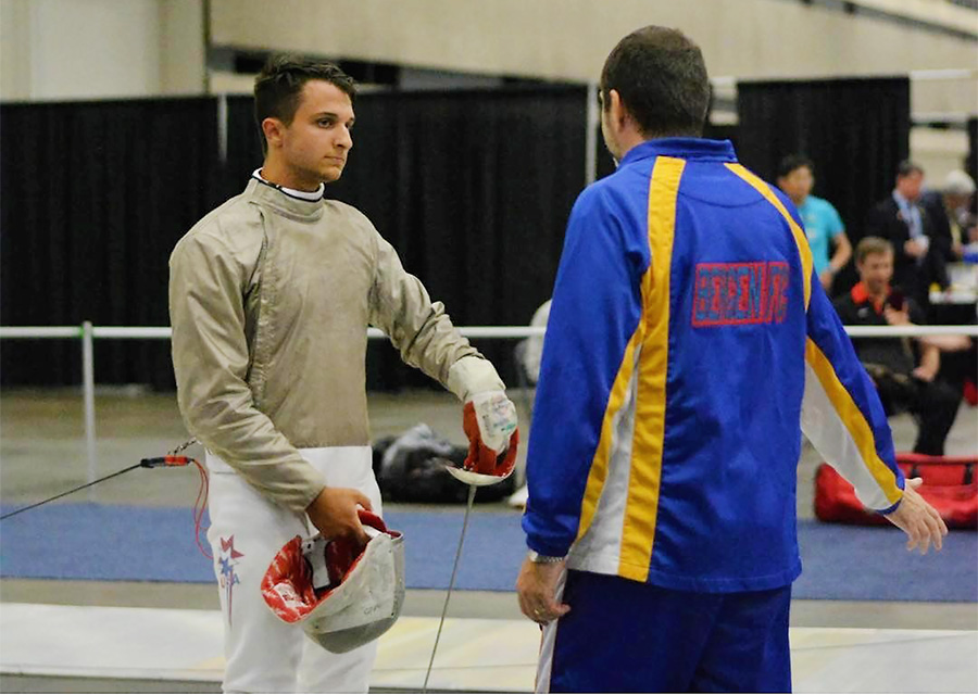 Carlo earns medal at the U.S. Fencing Junior Olympics