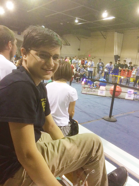 Robert Wins 2nd Place in Robotics Competitive Team