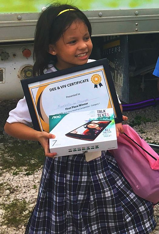 Mirabella Wins First Place in Reading Competition