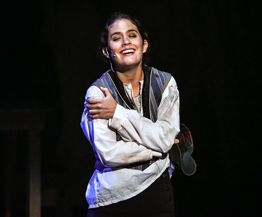 Teresa plays Eponine in Les Miserables