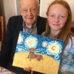 Katherine Paints Picture for 95 Year Old Grandfather - Katharine