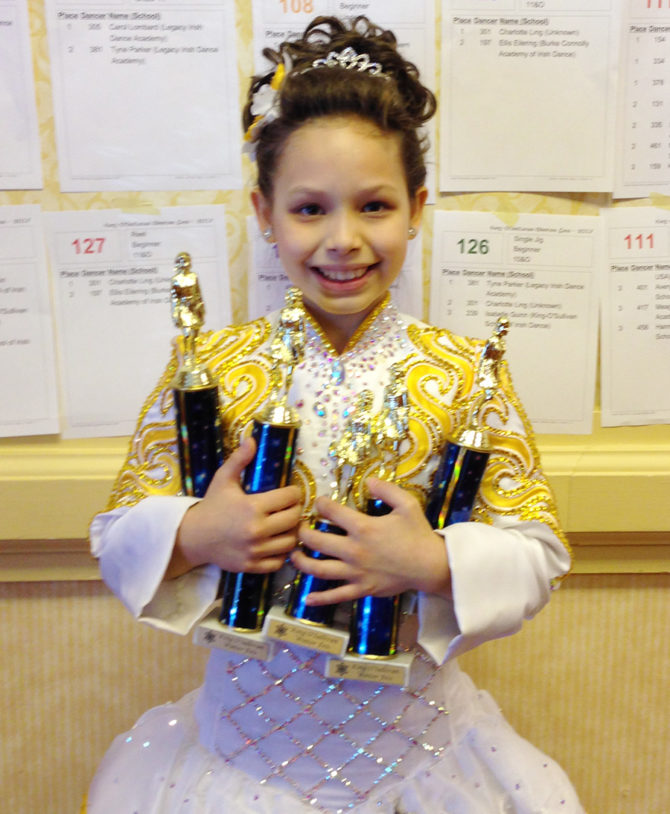 Elizabeth Competes in Irish Dance Competition